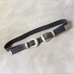 ASOS Real Leather Western Belt